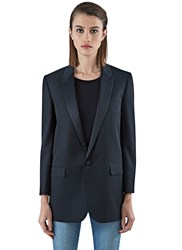 Saint Laurent Long Tailored Tux Jacket Black