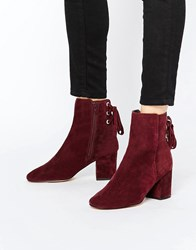 Asos Reni Suede Ankle Boots Plum Suede Purple