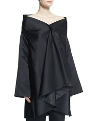 The Row Tere Off The Shoulder Ruffle Front Jacket Black Women's