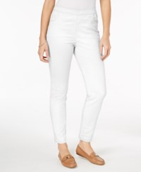 Karen Scott Petite Pull On Pants Created For Macy's Bright White