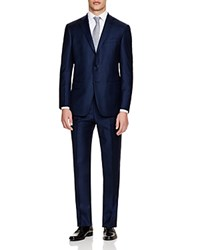 Hart Schaffner Marx Hart Shaffner Marx Platinum Label Mini Houndstooth With Windowpane Check Classic Fit Suit 100 Bloomingdale's Exclusive Navy Houndstooth