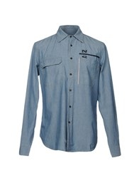North Sails Denim Shirts Blue