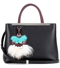 Fendi 2Jours Small Leather Tote Black