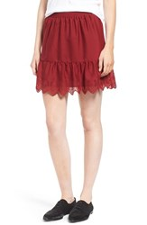 Madewell Women's Embroidered Miniskirt Bright Garnet