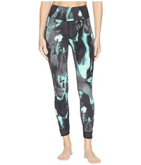 New Balance Printed Evolve Tights Tidepool Faded Surroundings Workout Blue