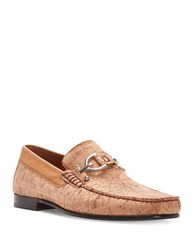Donald J Pliner Buckle Accented Cork Loafers Natural
