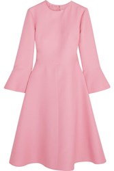Valentino Wool And Silk Blend Dress Baby Pink