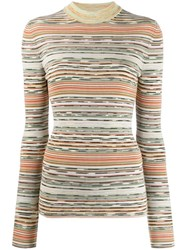 Missoni Striped Knitted Top Neutrals