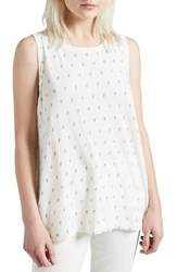 Current Elliott Women's The Muscle Tee Dirty White W Mint Cactus