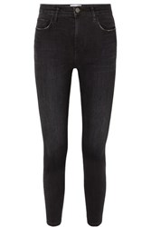 Current Elliott The Stiletto High Rise Skinny Jeans Black