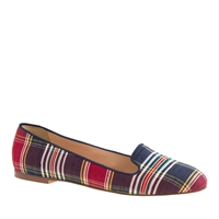 J.Crew Sophie Plaid Loafers Navy Red