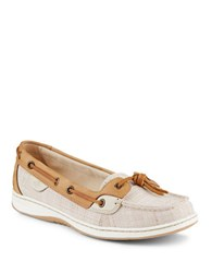 Sperry Slip On Boat Shoes Taupe