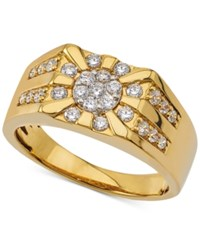Macy's Men's Diamond Cluster Ring 3 4 Ct. T.W. In 10K Gold White
