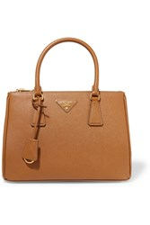 Prada Galleria Medium Textured Leather Tote Tan