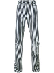 Proper Gang Striped Tapered Trousers Black