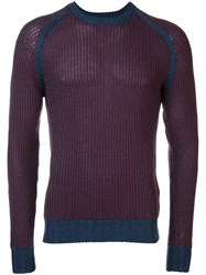 Barba Crew Neck Jumper Blue