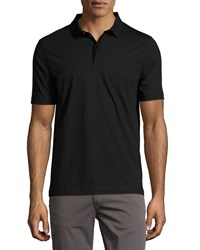 Armani Collezioni Supima Cotton Polo Shirt Black
