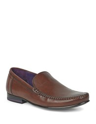 Ted Baker Simeen 3 Leather Loafers Brown
