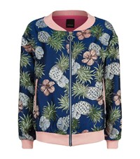 Pinko Pineapple Jacquard Lurex Bomber Jacket Female Multi