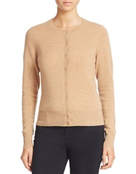 Lord And Taylor Petite Solid Cashmere Cardigan Classic Camel Heather