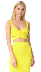 Cushnie Et Ochs Crossover Bra Top Yellow