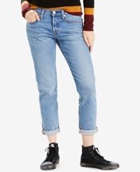 Levi's 501 Cotton Ripped Tapered Jeans Barbados Blue