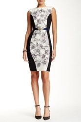 Little Mistress Contrast Side Panel Bodycon Dress Multi