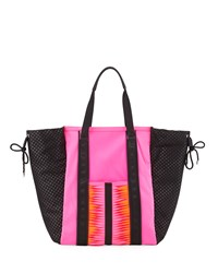 Gx By Gwen Stefani Ida Neoprene Tote Bag Pink Black Orange
