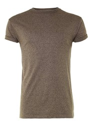 Topman Brown Muscle Fit Roller T Shirt