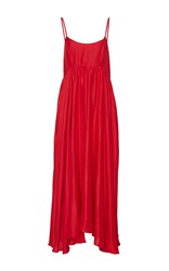 Azeeza The Rachel Long Empire Waisted Dress Red
