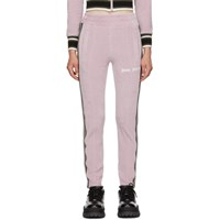 Palm Angels Purple Chenille Slim Track Pants