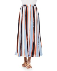 Elle Sasson Koa Pleated Striped Chiffon Skirt 36 Us 2