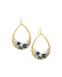 Nakamol Mixed Crystal And Pearl Teardrop Earrings Multi