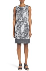 Boss Women's Daneki Snake Jacquard Sheath Dress