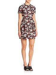 Mother Of Pearl Bentley Cotton And Silk Floral Dress Begonia Chinz