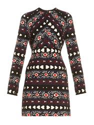 Msgm Long Sleeved Velvet Mini Dress