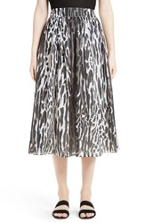 St. John Women's Collection Leopard Print Midi Skirt