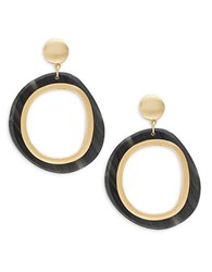 Trina Turk Doorknocker Drop Earrings Brown