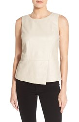 Halogenr Women's Halogen Leather Peplum Shell Tan Memoir