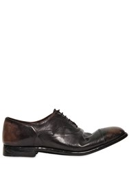 Alberto Fasciani 20Mm Hand Washed Leather Oxford Shoes