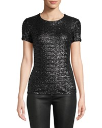 Bailey 44 Celebration Sequined Crewneck T Shirt Black