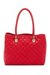 Cole Haan Benson Quilted Leather Tote Red