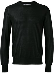 Comme Des Garcons Shirt Semi Sheer Jumper Men Cotton Acrylic Nylon L Black