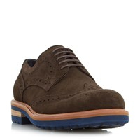 Dune Blindside Heavy Gibson Brogue Shoes Brown