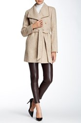 Ellen Tracy Novelty Wool Blend Wrap Beige