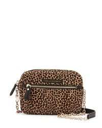 Diane Von Furstenberg Milo Leopard Print Calf Hair Crossbody Bag Natural Black