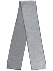 Hackett Contrast Trim Scarf Grey