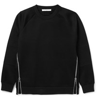 Givenchy Zip Detailed Jersey Sweatshirt Black