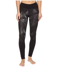 The North Face Pulse Tights Tnf Black Space Geo Print Women's Casual Pants