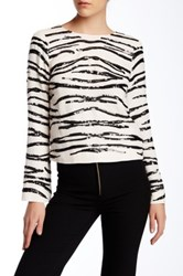Rachel Zoe Leandra Cropped Sequin Blouse White